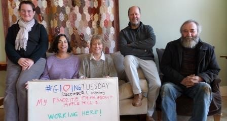 Apple Hill staff for Giving Tuesday