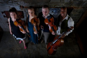 Apple Hill String Quartet in concert barn