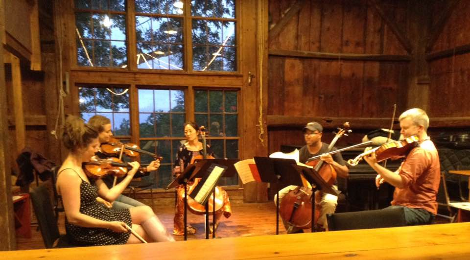 Apple Hill String Quartet Rehearsing Schubert With Nina Lee, Cello