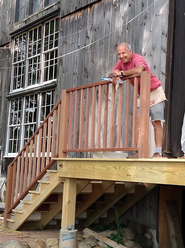 Andrew And The Stairs To The New Deck