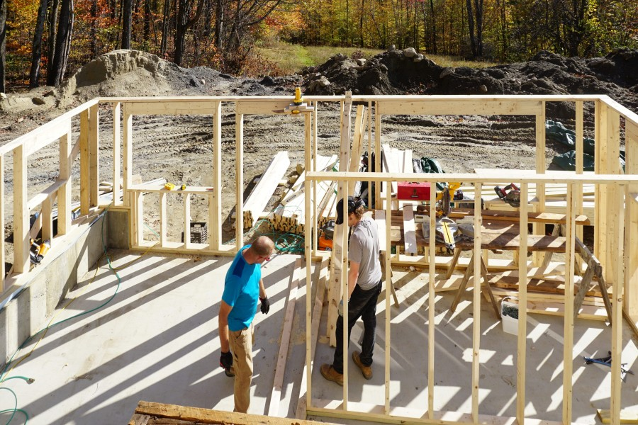 Jody And Max Work On The Framing