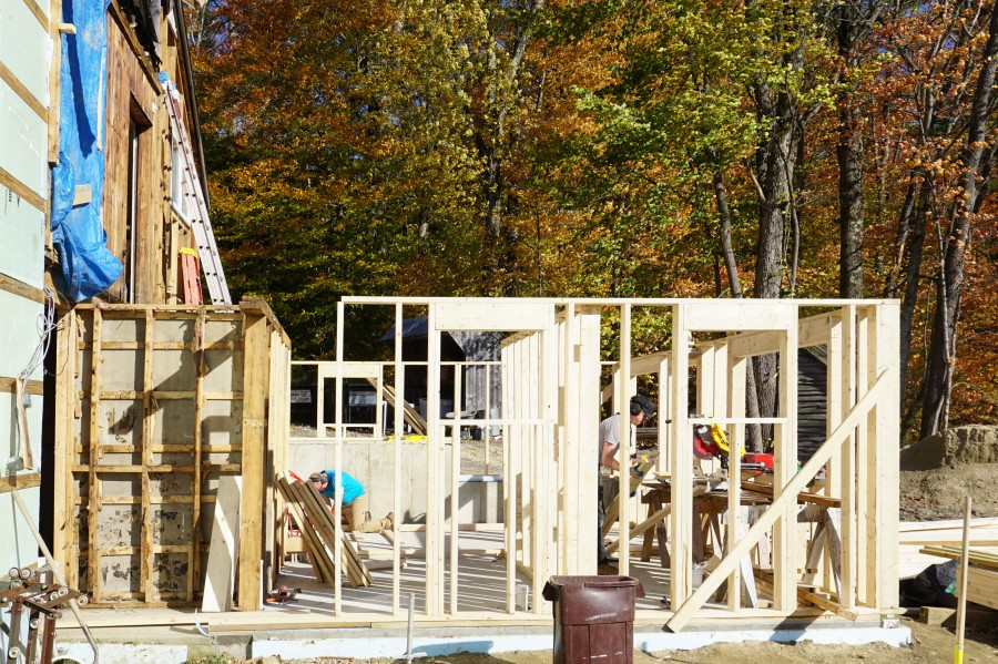 Framing Begins For The New Bathrooms