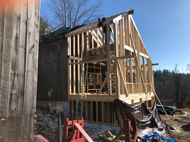 New Green Room Exterior Framing