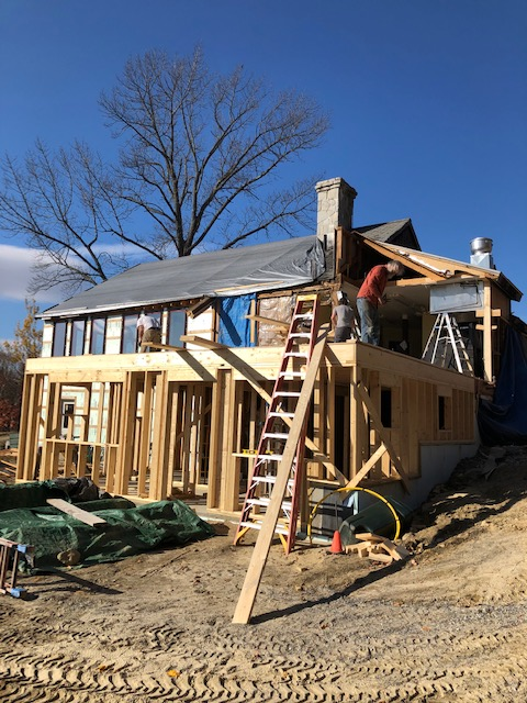 Exterior Work On The Kitchen, Bathhouse, And Green Room