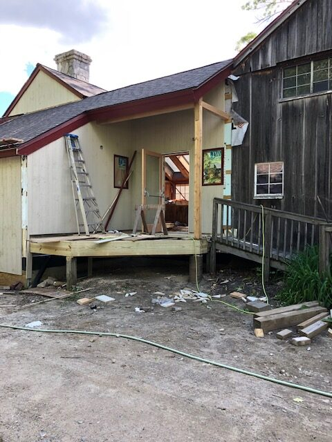 New Front Porch In Progress