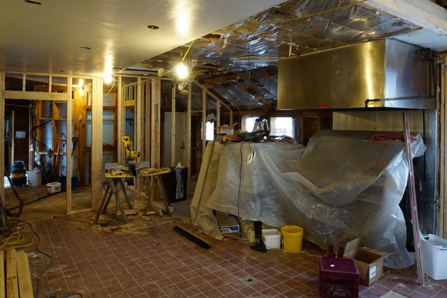 The Old Kitchen Under Construction