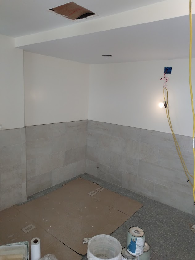 Tiles In The New Bathrooms